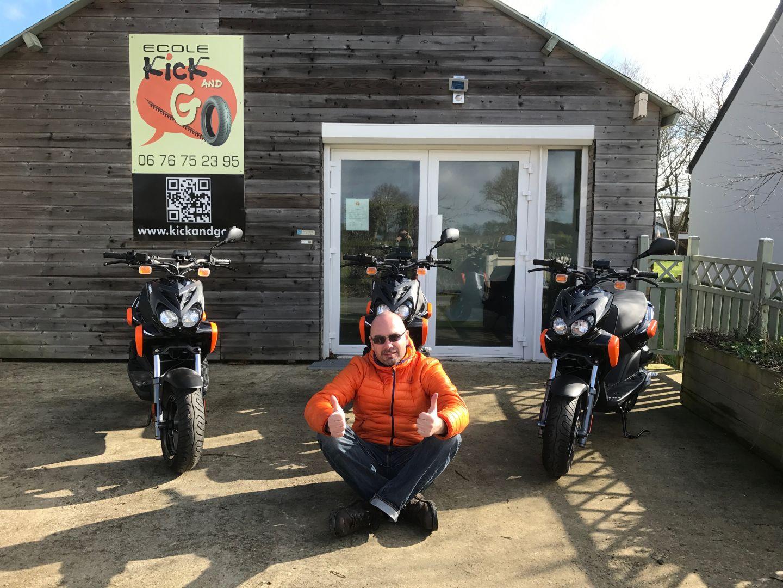 moto école kick and go à Trans sur Erdre
